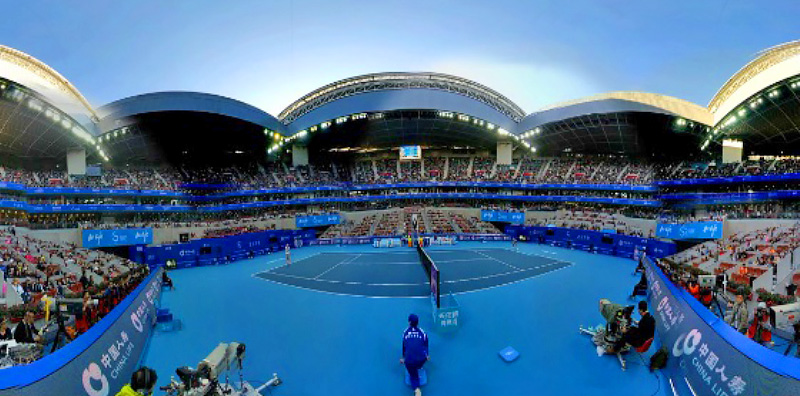 360vr live streaming for China Open Tennis Championship